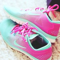 turkuaz pembe nike spor ayakkabı