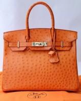 turuncu deri hermes kol çantası