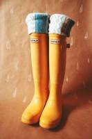 turuncu hunter yağmur çizmesi bot kadın