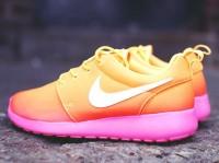 turuncu pembe nike kadın spor ayakkabı