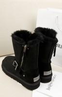 ugg kadın boot bot çizme kış sıcak siyah