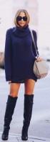 uzun kadın elbise triko kazak süet diz üstü çizme bot