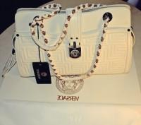 versace beyaz büyük kol çantası