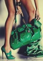 versace yeşil büyük kol çantası