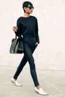 yüksek bel siyah pantalon kadın çanta