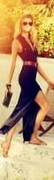 yazlık siyah kemerli elbise