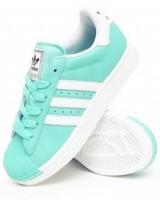 yeşil beyaz kadın adidas spor ayakkabı