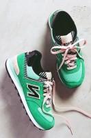 yeşil new blance spor ayakkabı kadın