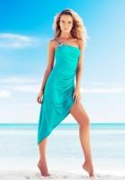 zeki triko mavi plaj elbisesi